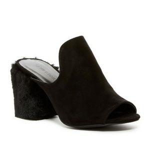 Fur Block Heels